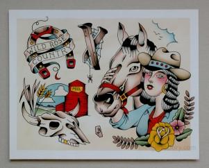 'Berta Cowgirl (11x14) $40
