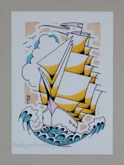 Ship (5x7) $10