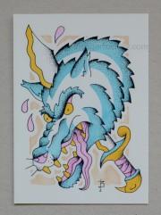 Wolf Head (5x7) $10